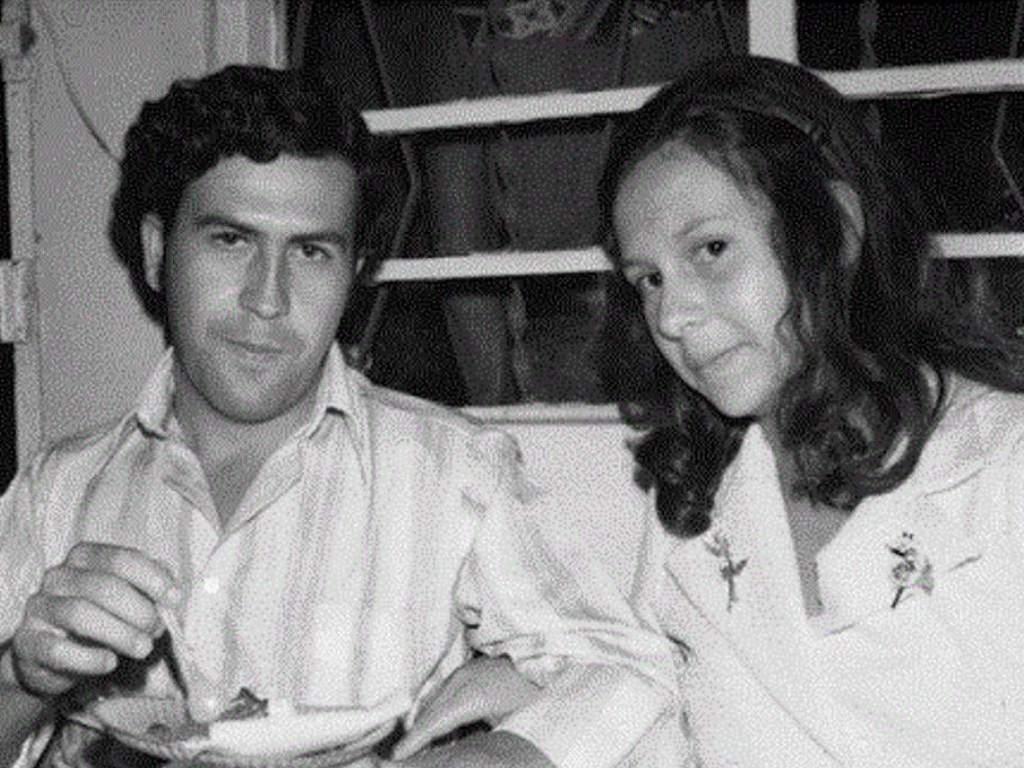 Pablo Escobar and Maria young